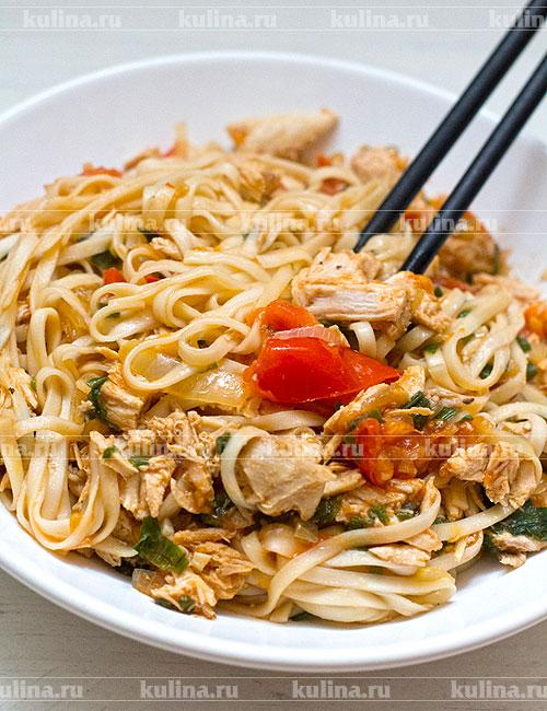 лапша удон рецепт приготовления с курицей