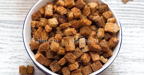 бородинские сухарики в духовке рецепт с фото