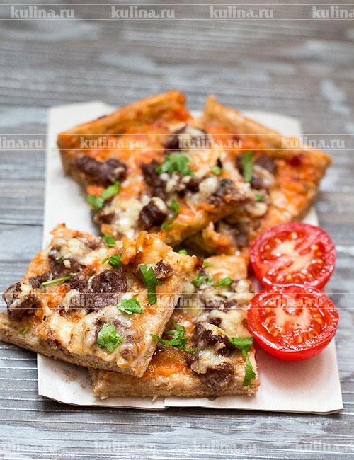 пицца с фаршем рецепт приготовления #11