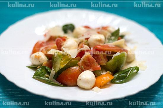 овощные салаты с моцареллой рецепты распечатать