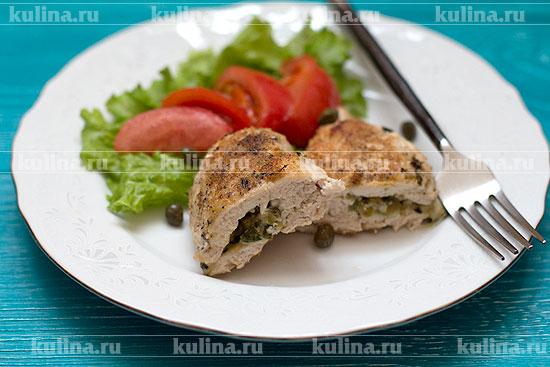 Фаршированные куриные грудки с сыром рецепт с фото