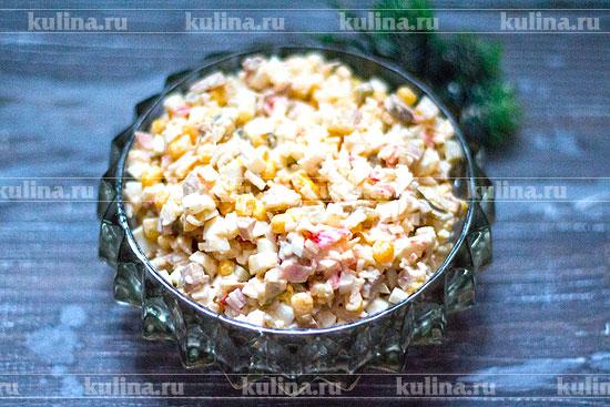 Салат с крабовых шампиньонов свежие