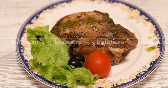 рецепт приготовления мяса на кости в духовке