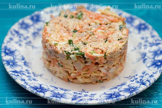 салат с морковкой по-корейски с мясом
