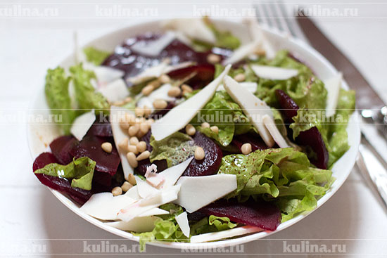 рецепт салата с козьим сыром и свеклой