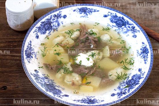 мясной суп рецепт с клецками рецепт