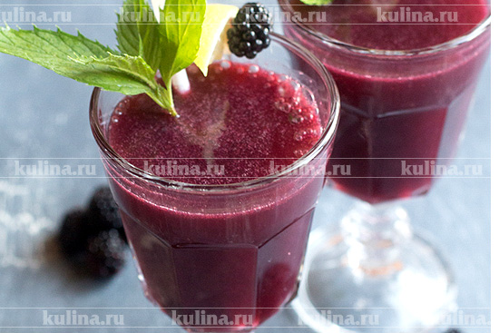Коктейль Blackberry and Champagne Crush