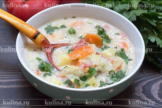молочный суп с овощами фото рецепт