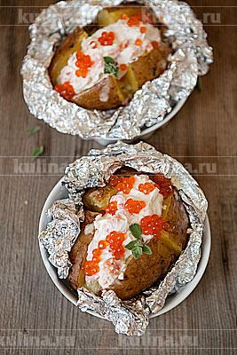 Картофель, запеченный с сырным муссом