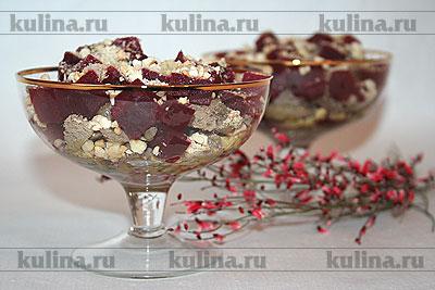 Салат-коктейль по-польски - кулинарный рецепт приготовления.