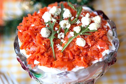 Салат мимоза с кукурузой с фото #6