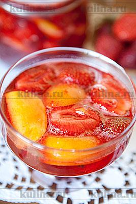 Варенье из клубники с персиками