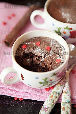 Шоколадное суфле с кофе для любимых