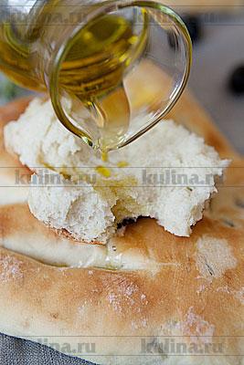 Фугасс с оливками и розмарином