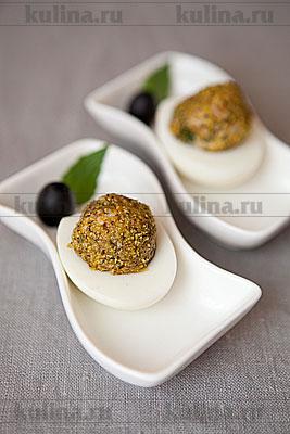 Праздничная закуска из яиц и тунца
