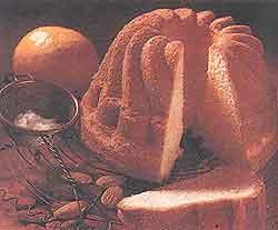 Песочный миндальный пирог