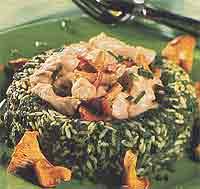 Зеленый рис по восточному