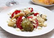 Салат из запеченного перца с сыром