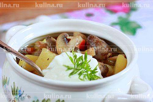 рецепт приготовления куриных сердец с картошкой