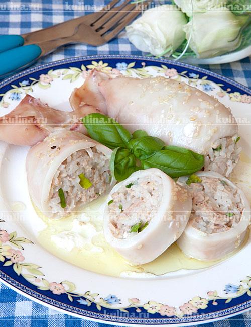 Фаршированные кальмары рецепт для поста