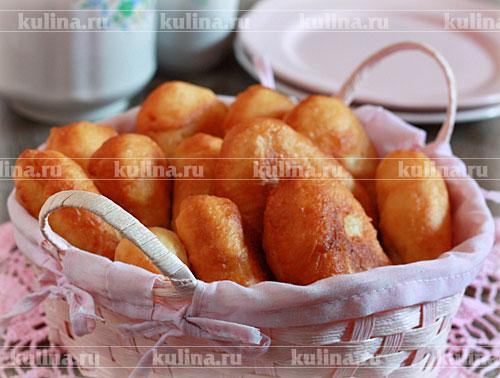 Пирожки с картофелем и ветчиной