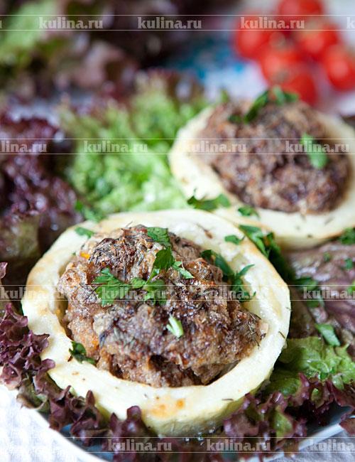 фаршированные кабачки с курицей запеченные в духовке рецепт с фото