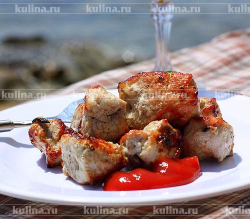 как приготовить вкусный шашлык из свиного окорока