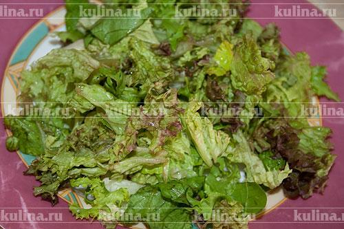 рецепт листья салата ананас