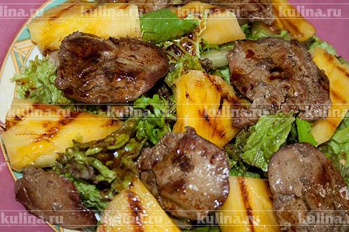 Печень с ананасами рецепт с фото
