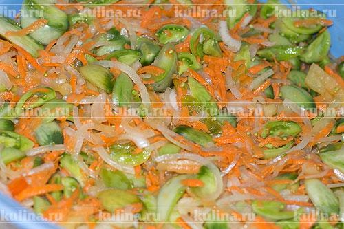 как делать салат из зеленых помидоров рецепт