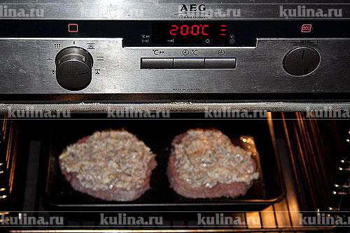 телятина в духовке с грибами рецепты с фото