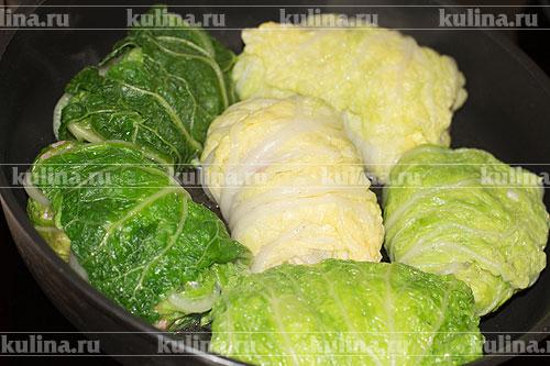 Голубцы из китайской капусты рецепт пошагово с в кастрюле