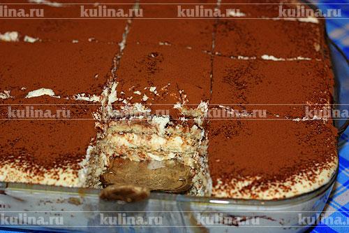 Торт тирамису из печенья