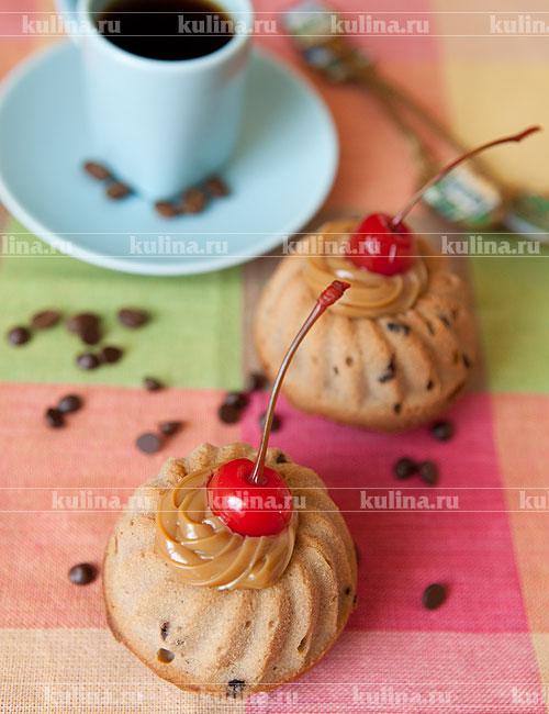 кексы шоколадные со сгущенкой