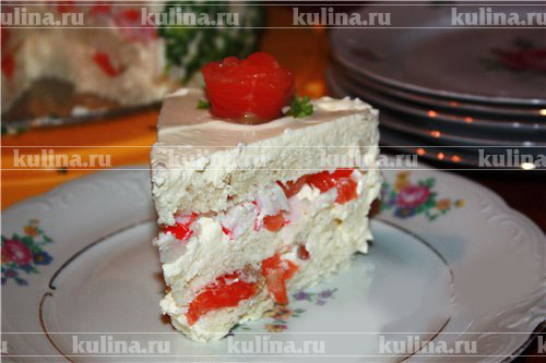 """Закусочный торт с шампиньонами """"Карусель"""" – кулинарный рецепт"""
