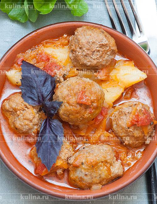 Фрикадельки с картошкой рецепт с фото пошагово
