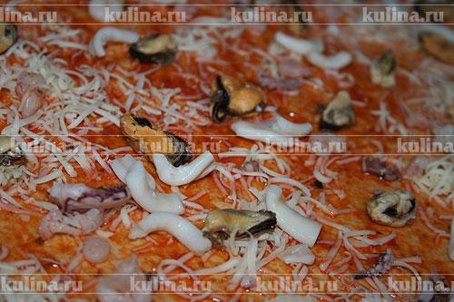 Пицца фритта с морепродуктами, пошаговый рецепт с фото