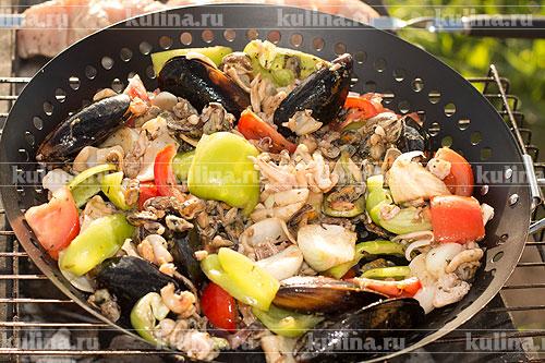 Морепродукты с овощами рецепты