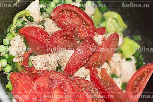 Курица с зеленым перцем и овощами – кулинарный рецепт