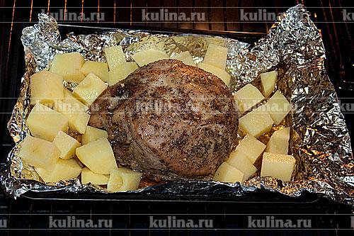 рецепт мяса в духовке свинина кусками в духовке