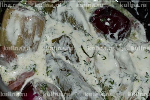 овощи тушеные с мясом в духовке рецепт с фото