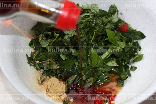 тайский салат с курицей рецепт фото
