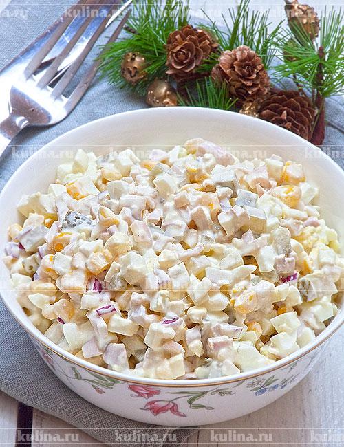 Салат с креветками с кукурузой рецепт очень вкусный 65