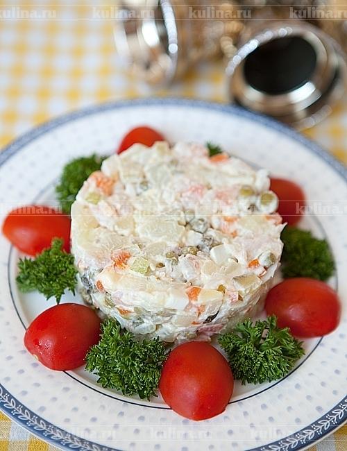 Как выложить красиво салат на тарелку