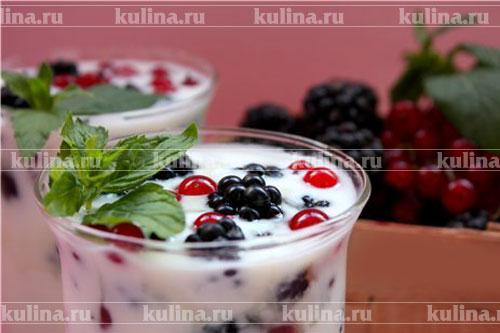 Домашний йогурт с ягодами рецепт