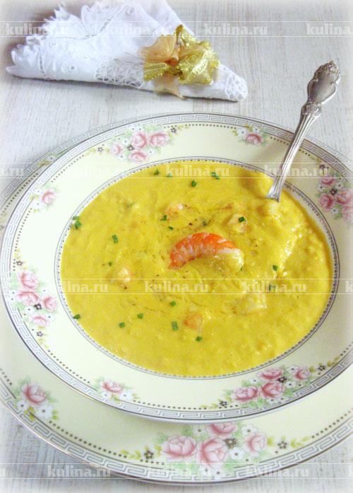 кукурузный пюре суп с креветками рецепт с фото