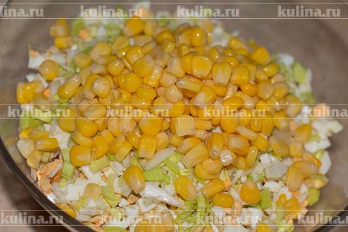 Салат с кальмаром и рисом рецепт