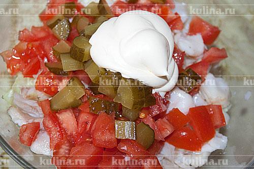 салат с рыбой рецепт с треской