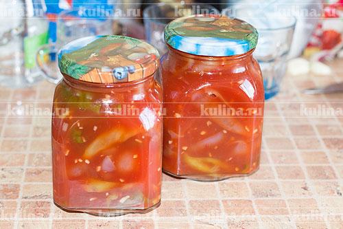 Как сделать перцы в томатном соке на зиму