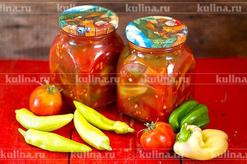 Как сделать перцы в томатном соке на зиму 95